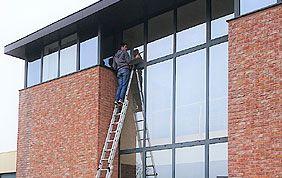 lavage de vitres en hauteur