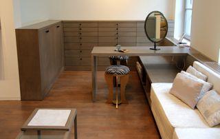 meuble à tiroirs en angle