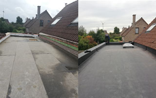 réfection toiture plate EPDM