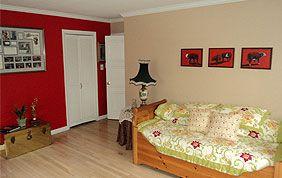 peinture intérieure blanc et rouge