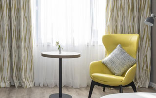 table and yellow chair