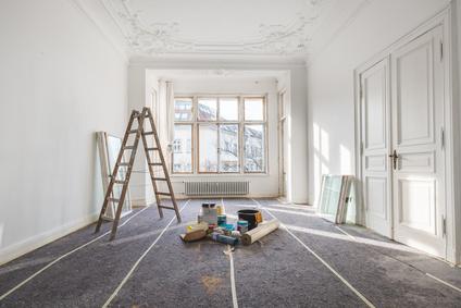 peinture et pose de revêtement de sol