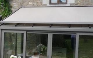 tente solaire véranda grise