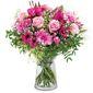 Image d'un bouquet de fleurs roses