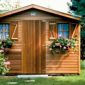 abris de jardin classique en bois