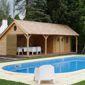 poolhouse en bois