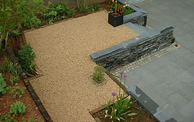 aménagement terrasse graviers
