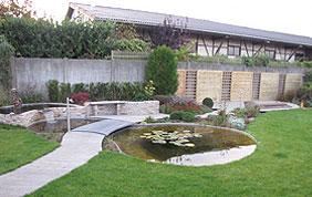 aménagement pièce d'eau et jardin