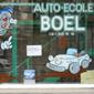 Vitrine auto-école Boel