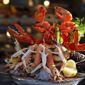 Assiette de crustacés chez un écailler
