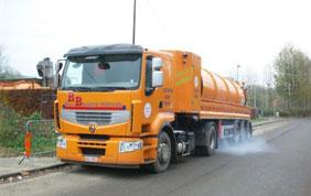 camion pour vidange de fosse septique