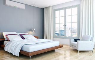 Chambre à coucher moderne lit en bois