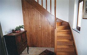 escalier quart tournant en bois