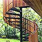 Escalier extérieur hélicoïdal