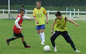 garçons match de football