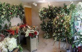 Magasin de fleurs funéraires