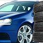 pile de pneus devant une voiture