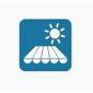 icône tente solaire et soleil