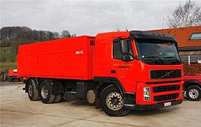 Camion pour livraison de pellets