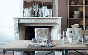 Intérieur classique bois et blanc