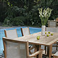 table et chaises extérieures en bois