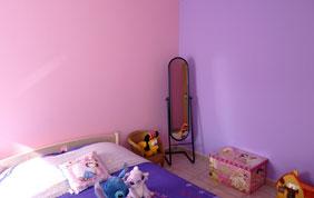 chambre enfant rose lilas