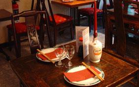 table pour deux personnes restaurant chinois