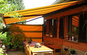 toile solaire terrasse jaune