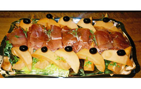 plateau melon et jambon de parme