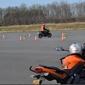 parcours d'apprentissage moto avec cones