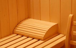 intérieur du sauna azurea