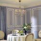 salle à manger traditionnelle lilas