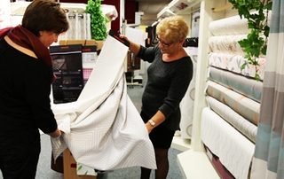 choix tissu rideau