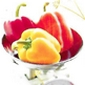 poivrons rouges et jaune