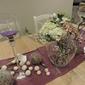 Bouquet et verre décoration