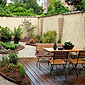 jardin de ville aménagé