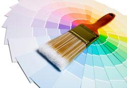 nuancier pour couleurs peintures et pinceau