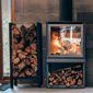 cheminée avec bois de chauffage