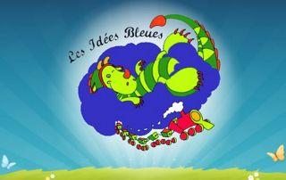 Logo magasin les idées bleues