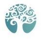 Logo arbre branches blanches