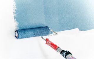 mise en peinture bleue