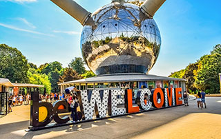 welcome atomium brussels