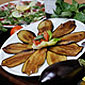 Plat d'aubergines grillées