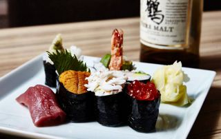 plat de sushis japonais