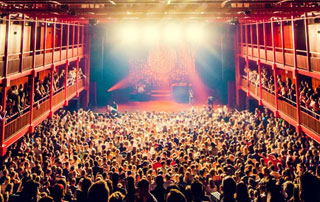 salle de concert remplie