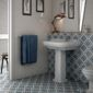 Salle de bain lavabo carrelage sol mur