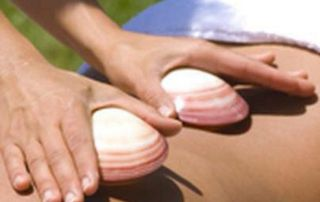 massage aux coquillages froids