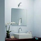 vasque carrée devant miroir