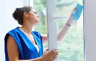 Nettoyage fenêtre PVC
