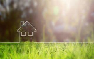 Dessin d'une maison sur l'herbe